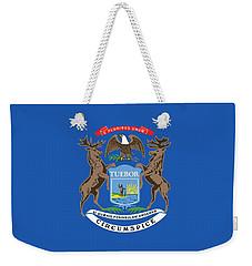 Michigan State Flag Weekender Tote Bag by American School