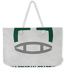 Michigan State Spartans Vintage Art Weekender Tote Bag by Joe Hamilton