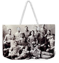 Michigan Wolverine Football Heritage 1890 Weekender Tote Bag by Daniel Hagerman