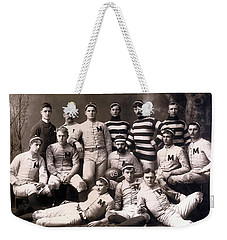 Michigan Wolverines Football Heritage 1888 Weekender Tote Bag by Daniel Hagerman