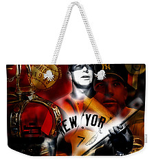 Mickey Mantle Collection Weekender Tote Bag by Marvin Blaine