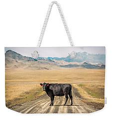 Middle Of The Road Weekender Tote Bag by Todd Klassy