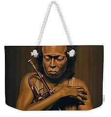 Miles Davis Painting Weekender Tote Bag by Paul Meijering