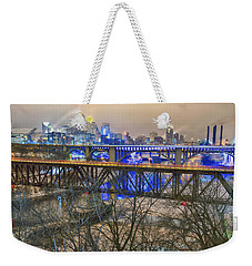 Minneapolis Bridges Weekender Tote Bag by Craig Voth