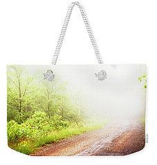 Weekender Tote Bag featuring the photograph Misty Back Road, Pocono Mountains, Pennsylvania by A Gurmankin