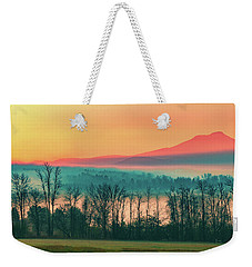 Misty Mountain Sunrise Part 2 Weekender Tote Bag by Alan Brown