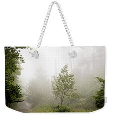 Weekender Tote Bag featuring the photograph Misty Road At Forest Edge, Pocono Mountains, Pennsylvania by A Gurmankin