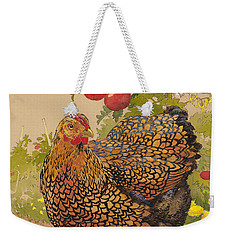 Miz Ruthie Wyandotte Weekender Tote Bag by Tracie Thompson