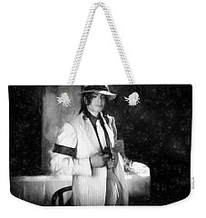 M J Chicago Gangster Scene Weekender Tote Bag by Donna Kennedy