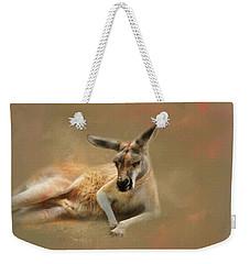 Monday Morning Drowsies Kangaroo Art Weekender Tote Bag by Jai Johnson