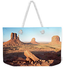 Weekender Tote Bag featuring the photograph Monument Valley, Utah by A Gurmankin