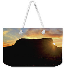 Weekender Tote Bag featuring the photograph Monument Valley, Utah, Sunrise by A Gurmankin