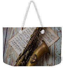 Moody Sax Weekender Tote Bag by Garry Gay
