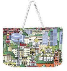 Moscow City Poster Weekender Tote Bag by Pablo Romero