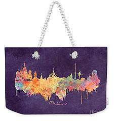 Moscow Russia Skyline City Weekender Tote Bag by Justyna JBJart