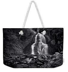 Moss Glen Falls - Monochrome Weekender Tote Bag by Stephen Stookey