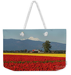 Mount Baker Skagit Valley Tulip Festival Barn Weekender Tote Bag by Mike Reid