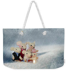 Mouse In Snow Weekender Tote Bag by Heike Hultsch