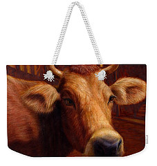 Mrs. O'leary's Cow Weekender Tote Bag by James W Johnson