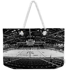 Munn Ice Arena Black And White  Weekender Tote Bag by John McGraw