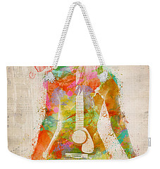 Music Was My First Love Weekender Tote Bag by Nikki Marie Smith