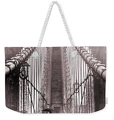 Mystery Man Of Brooklyn Weekender Tote Bag by Az Jackson