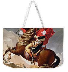 Napoleon Crossing The Alps Weekender Tote Bag by Jacques Louis David
