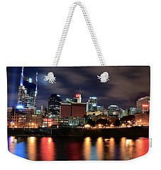 Nashville Skyline Weekender Tote Bag by Frozen in Time Fine Art Photography