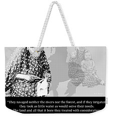 Weekender Tote Bag featuring the photograph Native American Legacy And The Land by A Gurmankin