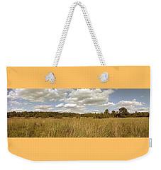 Natural Meadow Landscape Panorama. Weekender Tote Bag by Arletta Cwalina