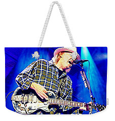Neil Young In Concert Weekender Tote Bag by John Malone