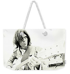 Neil Young Watercolor Weekender Tote Bag by John Malone