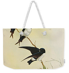 Nepal House Martin Weekender Tote Bag by John Gould