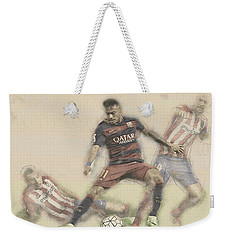 Neymar Fight For The Bal Weekender Tote Bag by Don Kuing