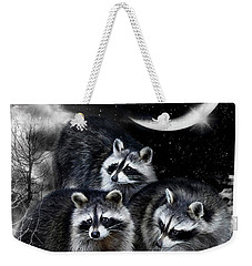 Night Bandits Weekender Tote Bag by Carol Cavalaris