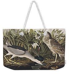 Night Heron Or Qua Bird Weekender Tote Bag by John James Audubon