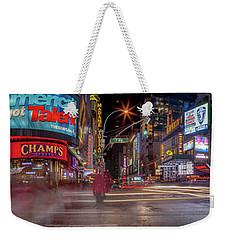 Nights On Broadway Weekender Tote Bag by Az Jackson
