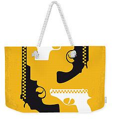 No087 My Taxi Driver Minimal Movie Poster Weekender Tote Bag by Chungkong Art