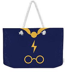 No101 My Harry Potter Minimal Movie Poster Weekender Tote Bag by Chungkong Art
