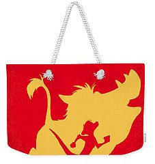 No512 My The Lion King Minimal Movie Poster Weekender Tote Bag by Chungkong Art