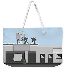 No715 My Clerks Minimal Movie Poster Weekender Tote Bag by Chungkong Art