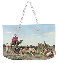 Nomads In The Desert Weekender Tote Bag by Georges Washington