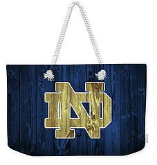 Notre Dame Barn Door Weekender Tote Bag by Dan Sproul