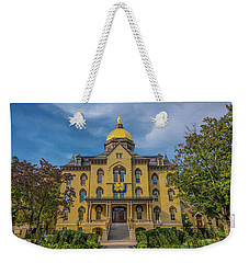 Notre Dame University Golden Dome Weekender Tote Bag by David Haskett