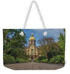 Notre Dame University Q Weekender Tote Bag by David Haskett