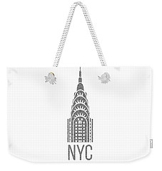 Nyc New York City Graphic Weekender Tote Bag by Edward Fielding