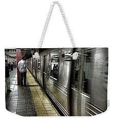 Nyc Subway Weekender Tote Bag by Martin Newman