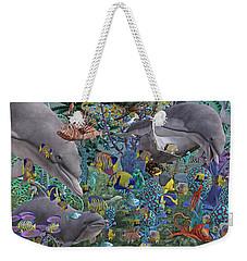 Ocean Circus Weekender Tote Bag by Betsy Knapp