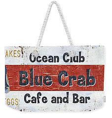 Ocean Club Cafe Weekender Tote Bag by Debbie DeWitt