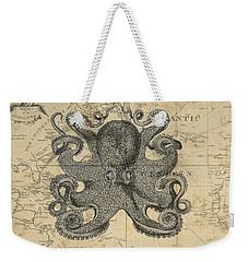 Octopus Sea Chart Weekender Tote Bag by Erin Cadigan
